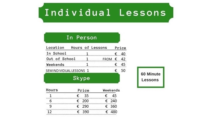 Private lessons and individual Italian courses